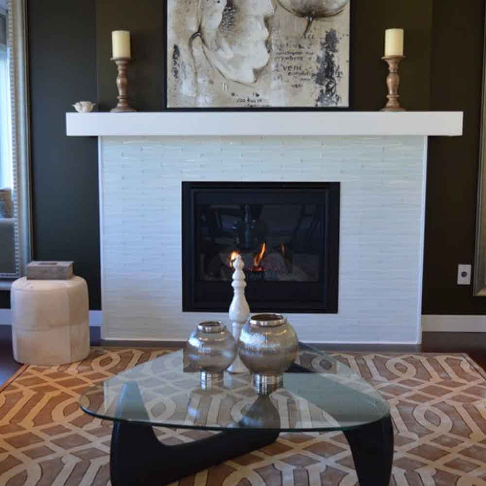 Click here to learn about five great fireplace tile design ideas.