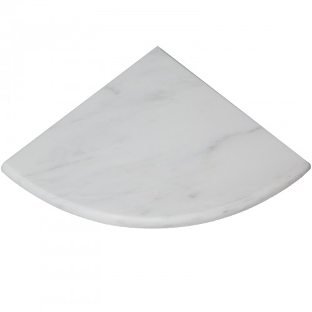 Asian Carrara Marble Stone Bathroom Caddy Corner Shelf