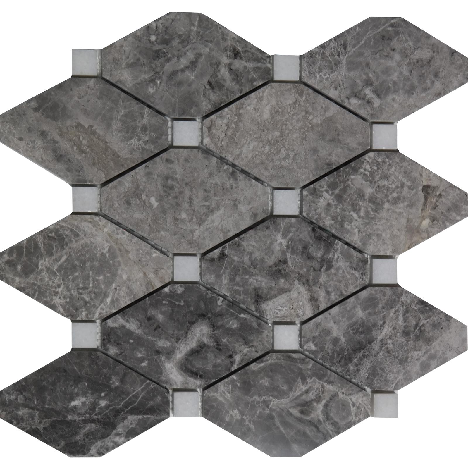 Diamond Mosaic Tile Dark Grey