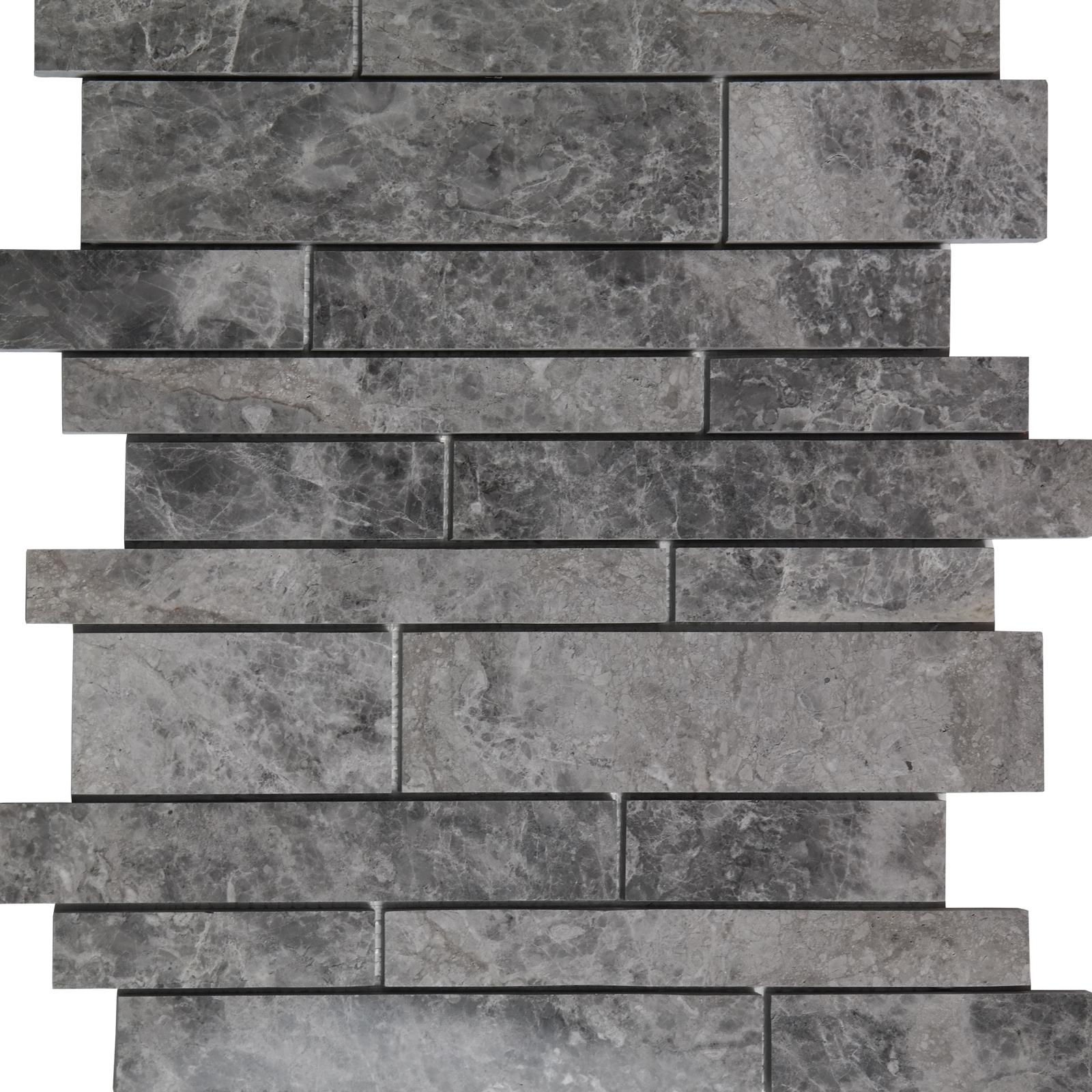 Waterfall Mosaic Dark Grey Marble