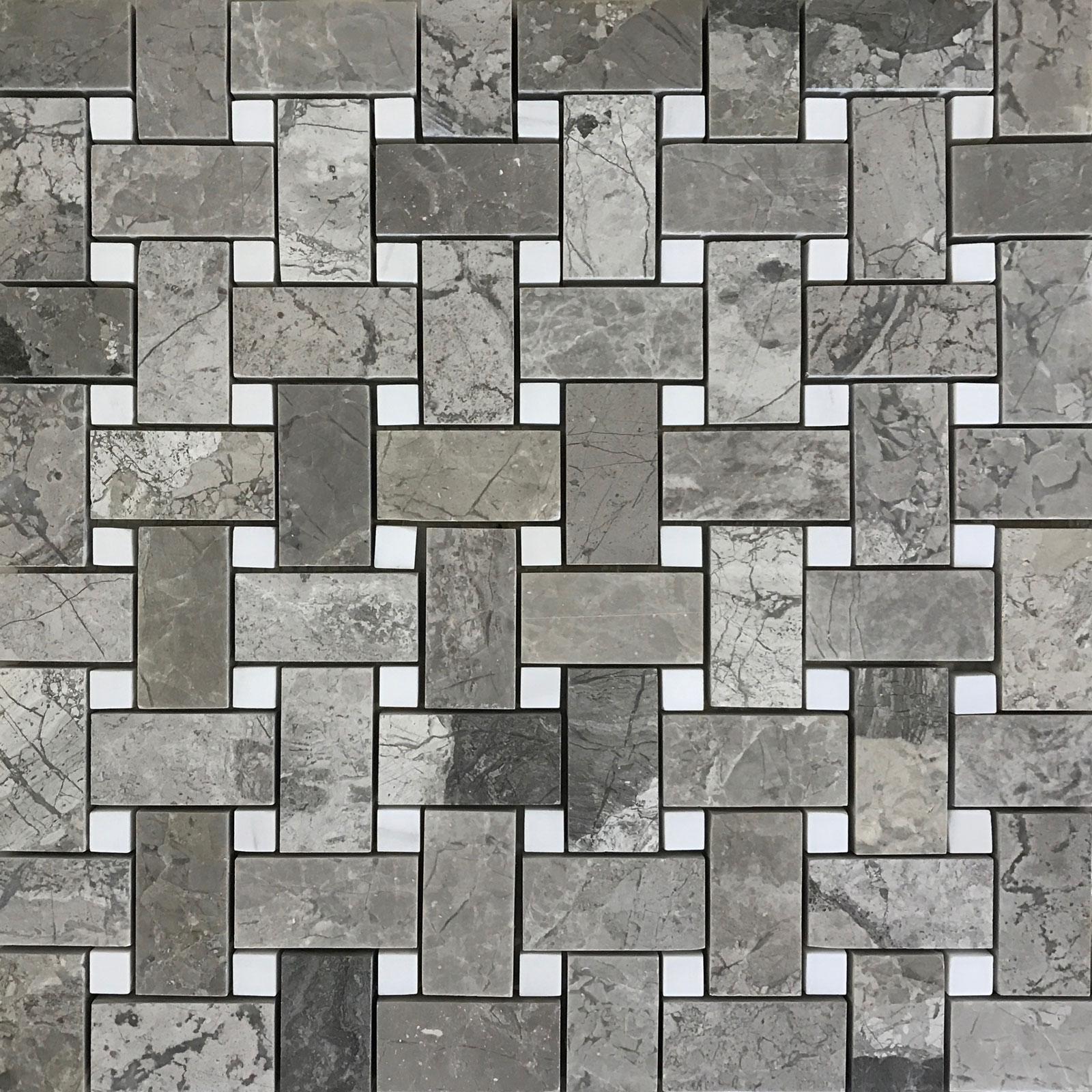 Basketweave Mosaic Phantasie Gray