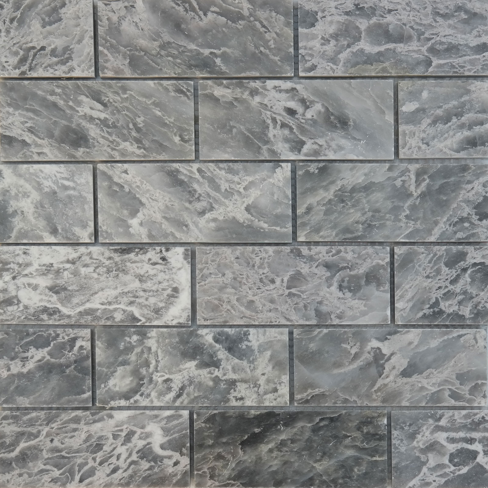 2 X 4 Mosaic Tile White Grey Marble