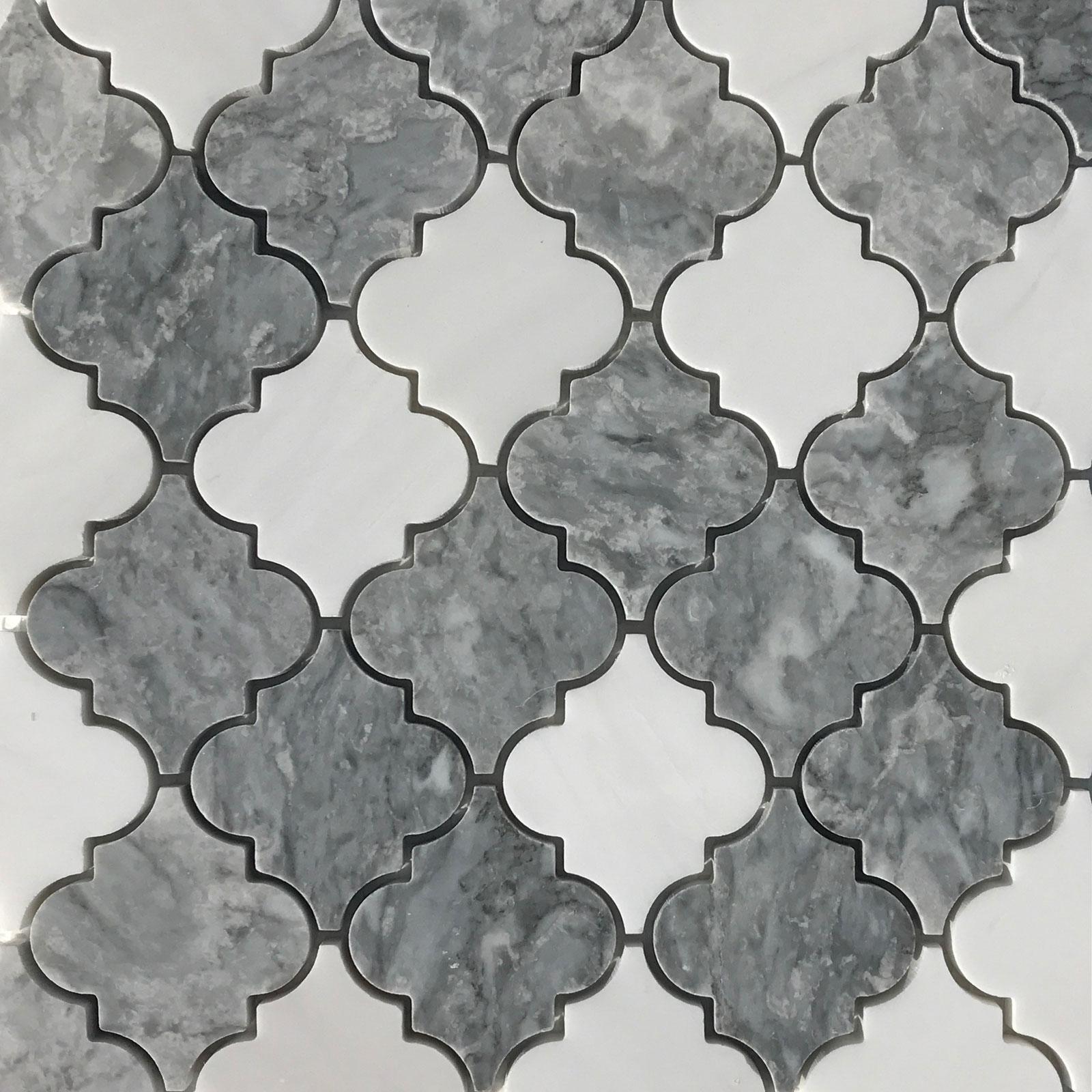 Light Grey Dolomite Arabesque Lantern Tile