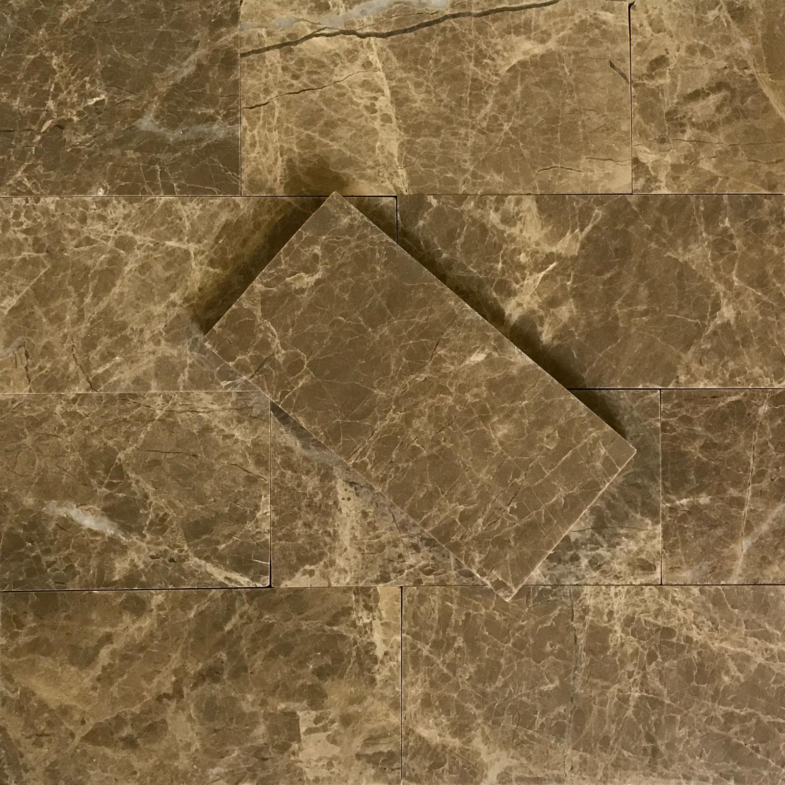 3 X 6 Tile Emperador Light Marble Polished