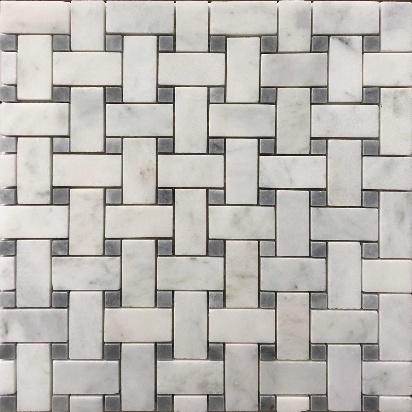 Basketweave Imperial Carrara Gd Carrara Tile