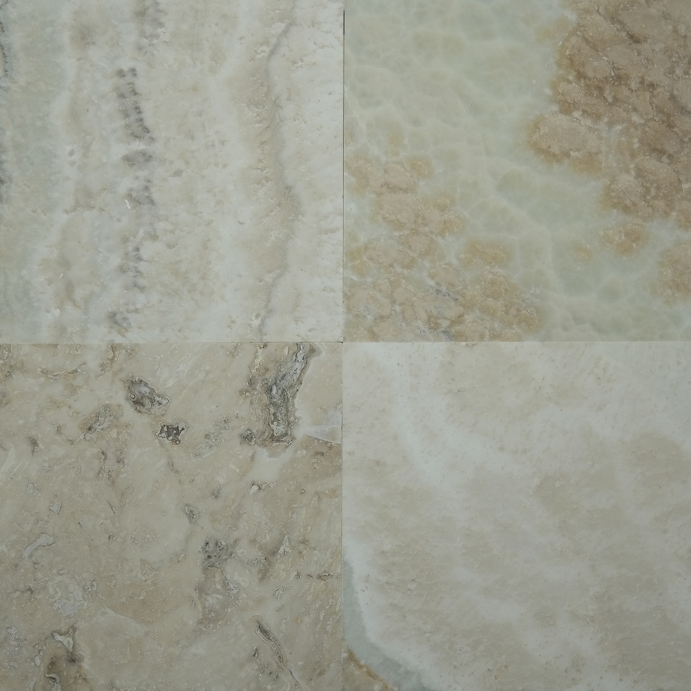 Natural Stone Tile Look For Fireplace