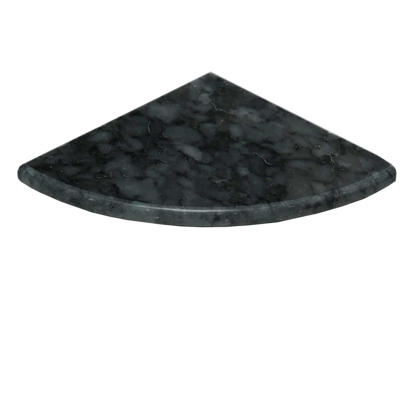 Dark Grey Marble Bathroom Caddy Corner Shelf