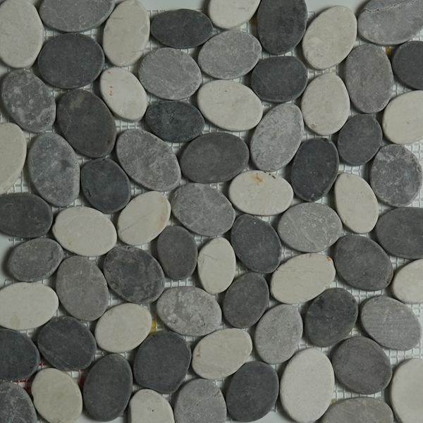 Grey Beige Mixed Pebble Mosaic