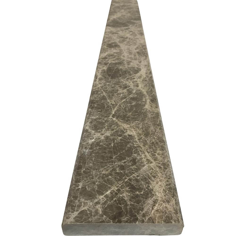Marble Saddle For Bathroom: 4 X 36 Saddle Threshold Dusky Emperador Marble Stone