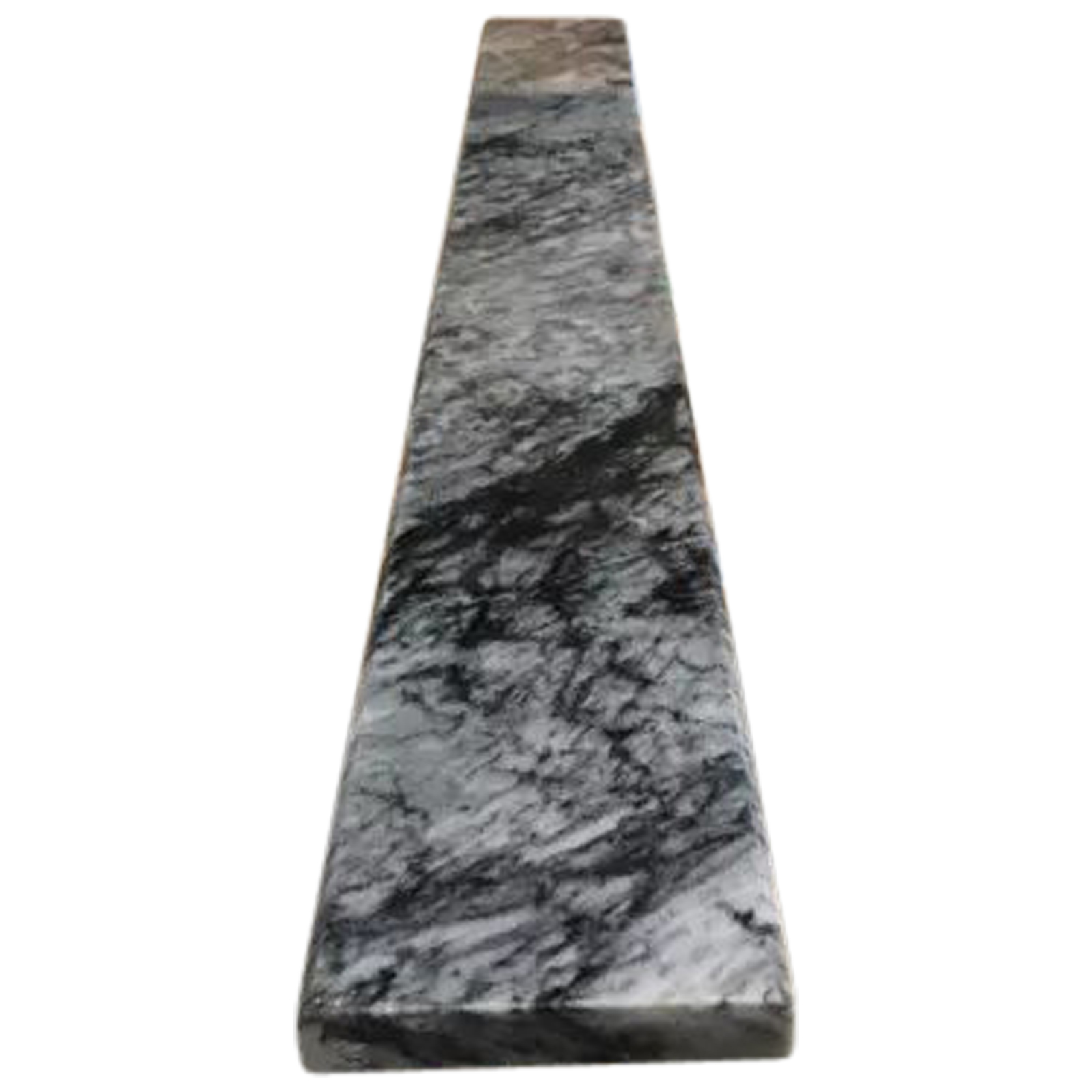 4 X 36 Saddle Threshold Black Grey Marble Stone