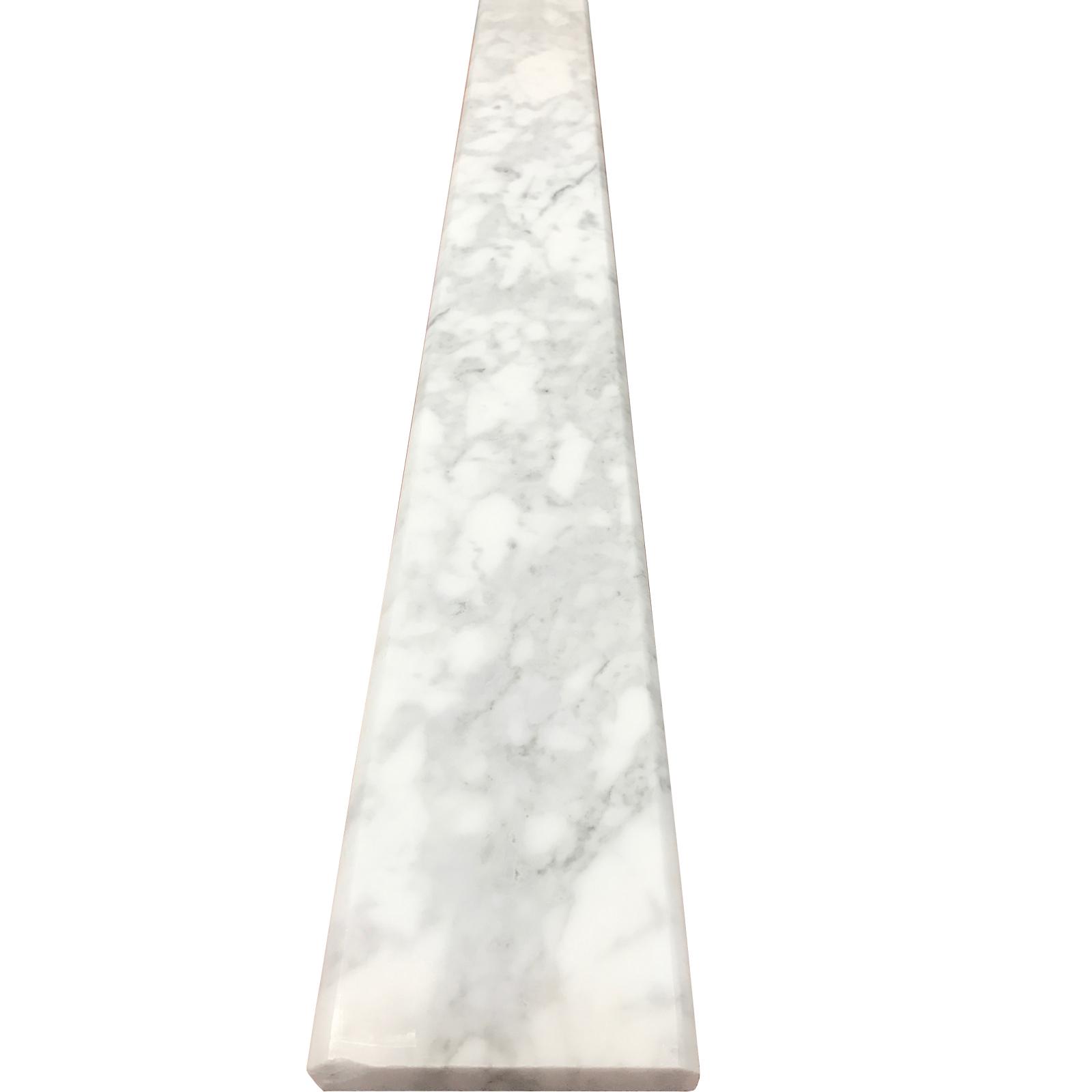 4 X 32 Saddle Threshold Carrara White Honed Marble