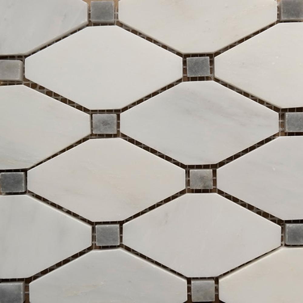 Boliche mosaic tile asian carrara grey marble polished dailygadgetfo Gallery