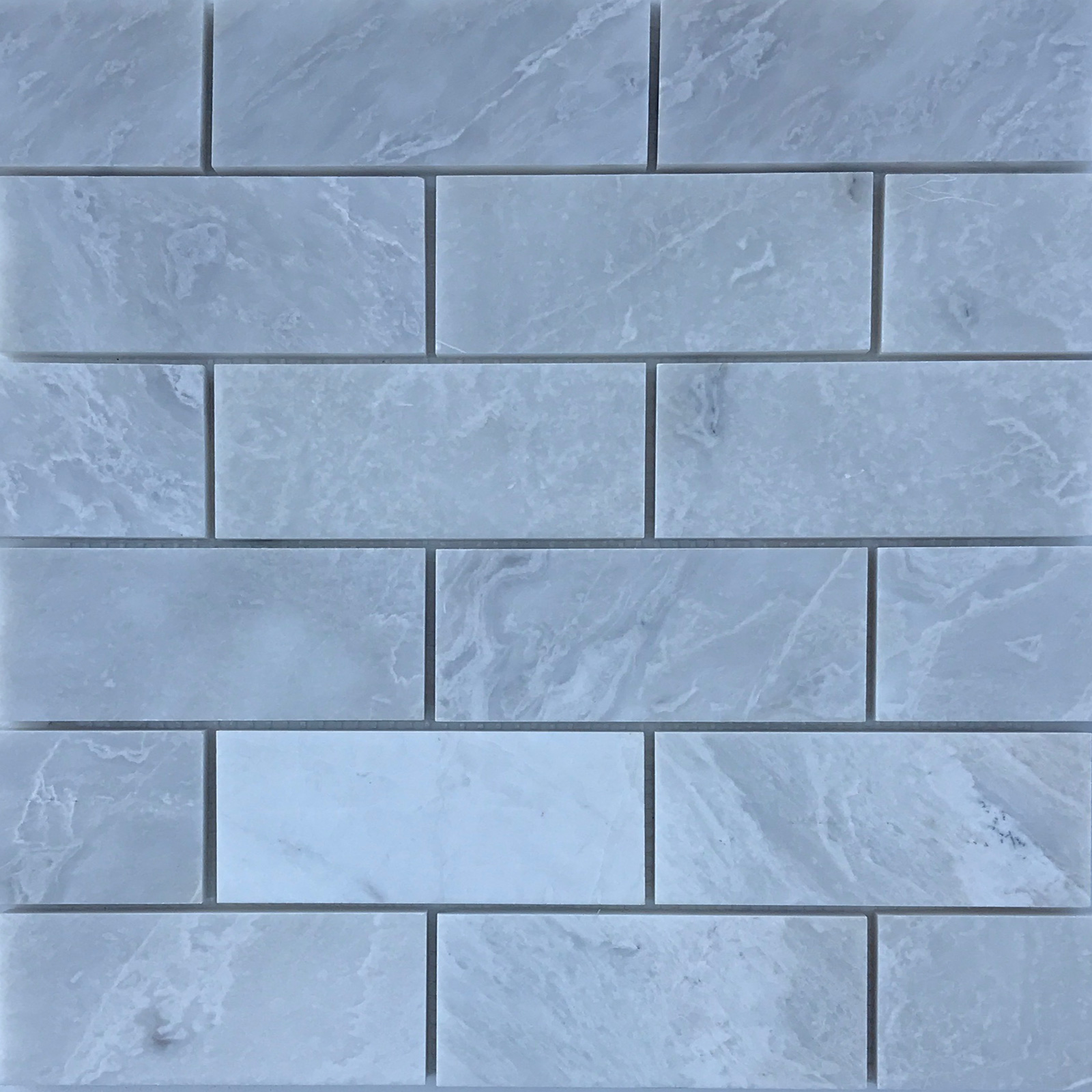 2 x 4 Mosaic Tile Whole Blanc Marble Polished