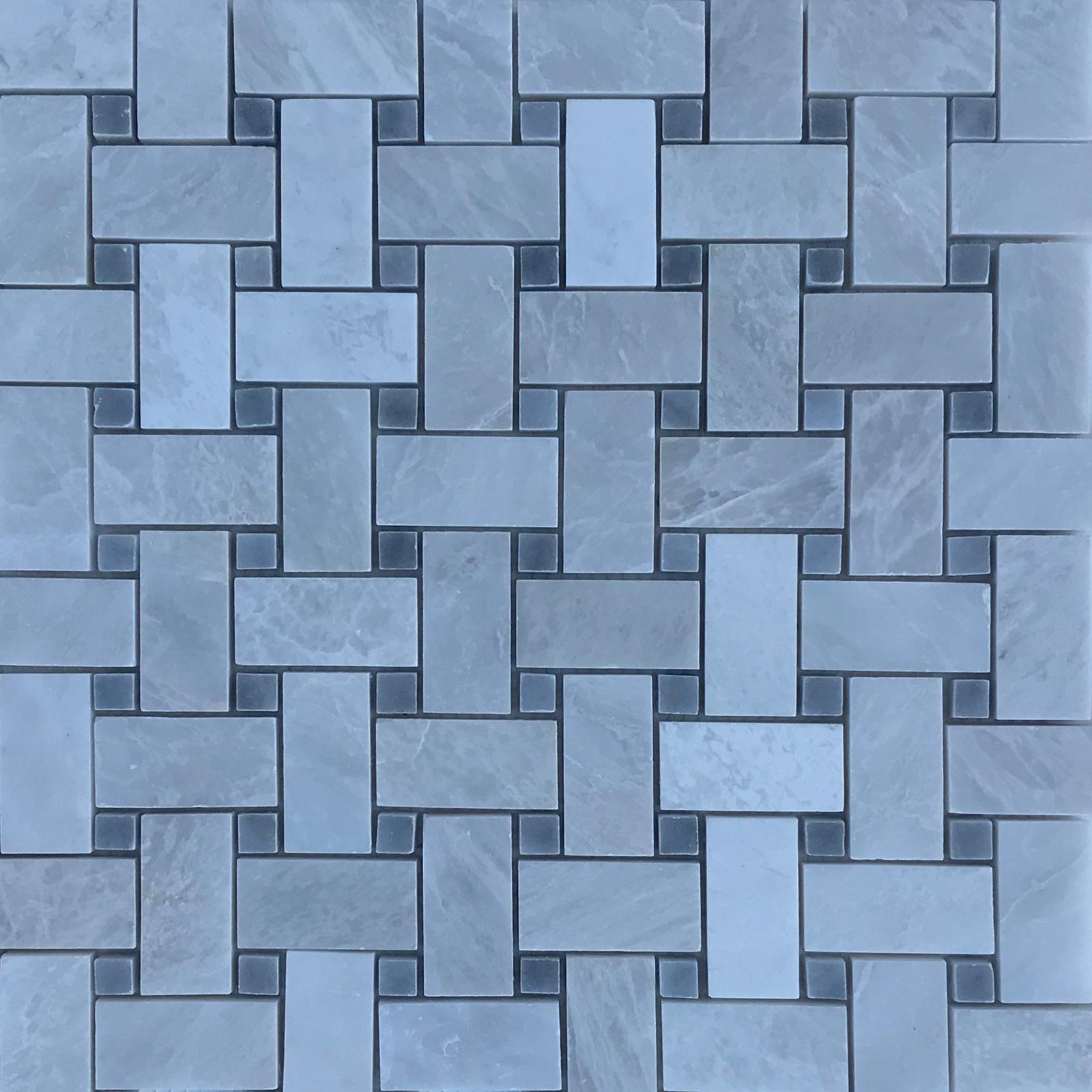 Basketweave Mosaic | Iceberg Marble