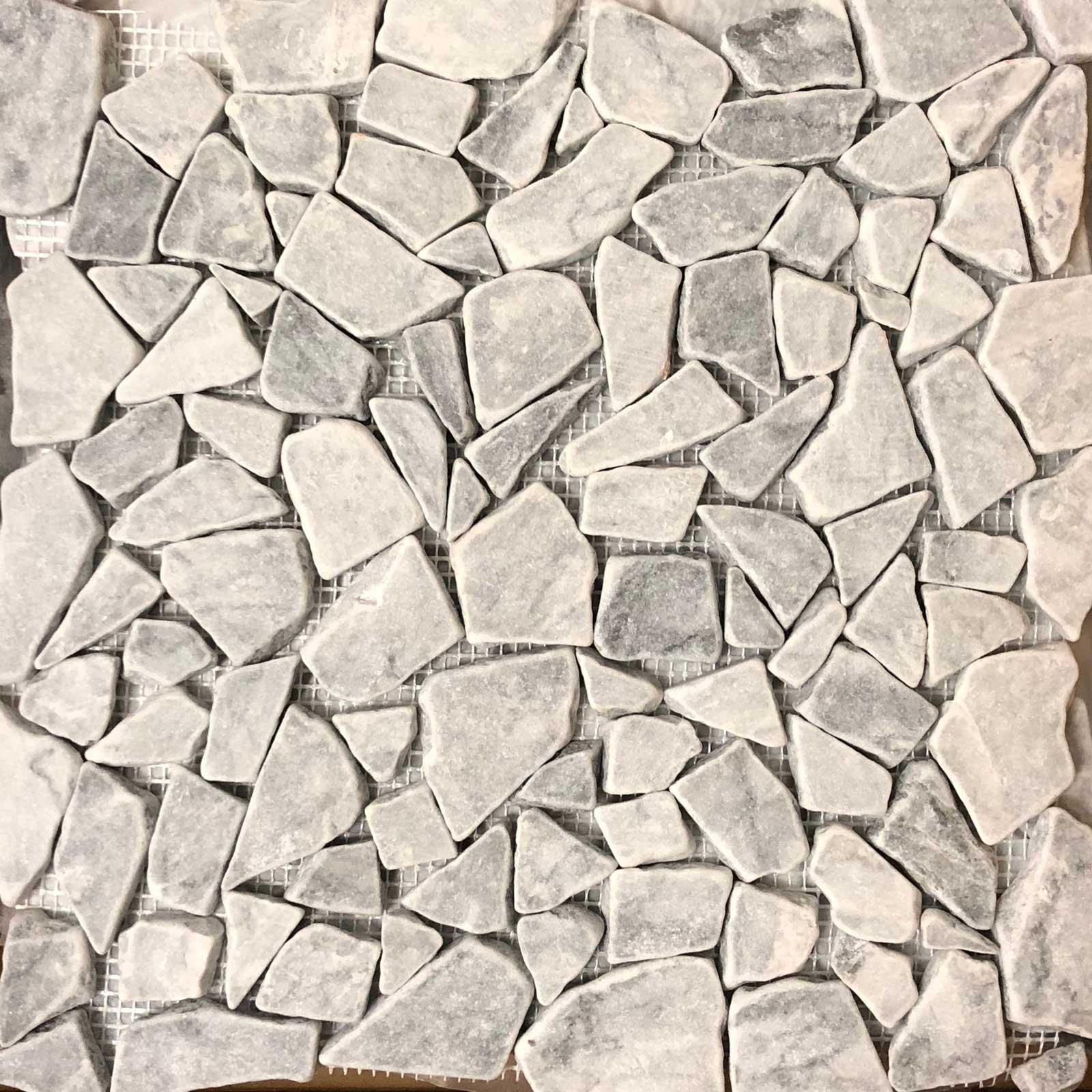Light Grey Stone Mosaic Pebble Tile
