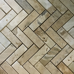 Herringbone Mosaic Tile Autumn Onyx Honed