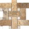 Large Basketweave Mosaic Tile Scabos Travertine Tile