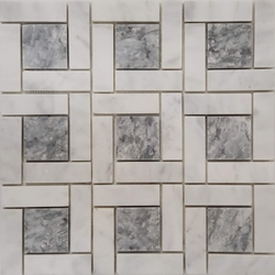 Target Pinwheel Pattern Tile Mosaic Imperial Carrara and Grey