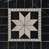 Medallion Mosaic Tile Bottichino and Black Marble Polished