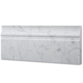 Baseboard Trim Molding Tile Carrara Marble Polished