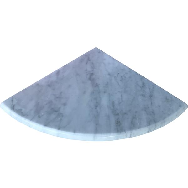 Italian Carrara Marble Honed Stone Bathroom Caddy Corner Shelf