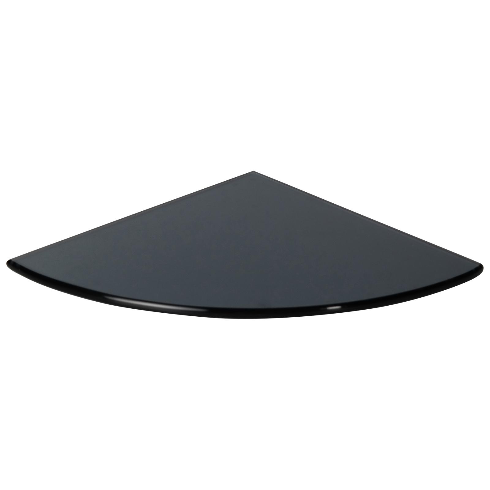 Black Tempered Glass Bathroom Caddy Corner Shelf   BGLRN34 ...