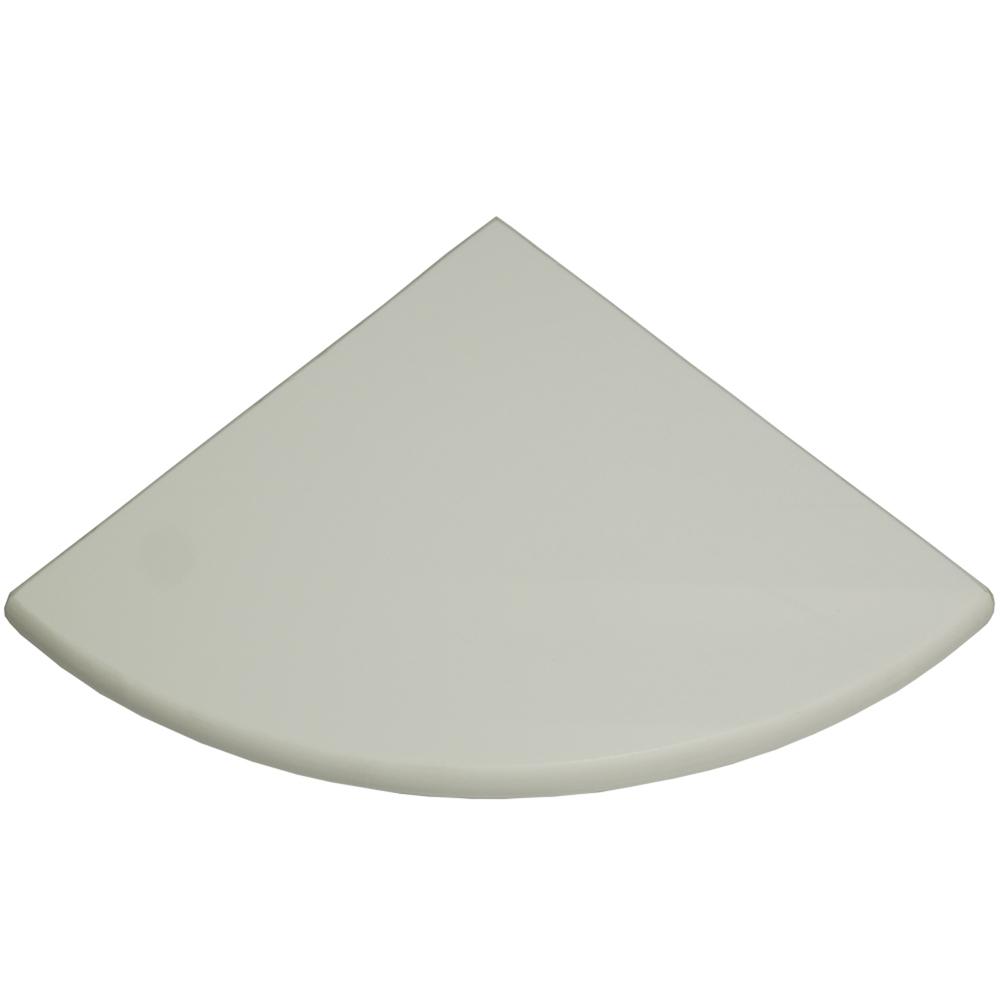 Glassos Resin Glass Bathroom Caddy Corner Shelf