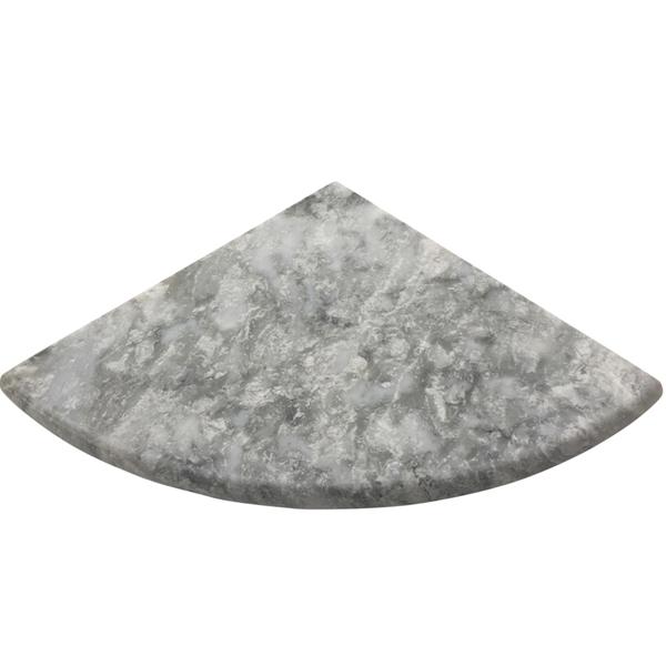 Light grey marble stone bathroom corner shelf for Marble bathroom shelf