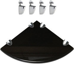 4 Pcs Brackets With Absolute Black Granite Corner Shelf