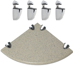 4 Pcs Brackets With Sand Green Granite Corner Shelf