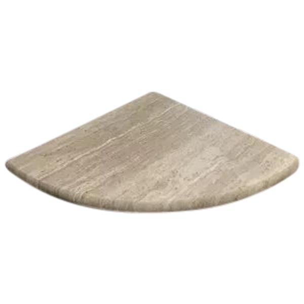 Wooden Grey Marble Bathroom Caddy Corner Shelf