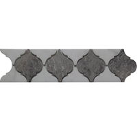 Border Mosaic Tile White Dark Grey Marble Polished grey-dark-border-mosaic