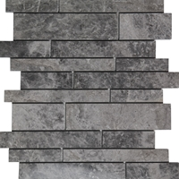 Waterfall Mosaic Tile Dark Grey Marble Polished grey-tile-Waterfall-mosaic