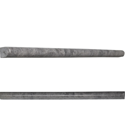 Pencil Molding 1/2 x 12 Tile Dark Grey Marble Polished grey-tile-pencil-dark-molding