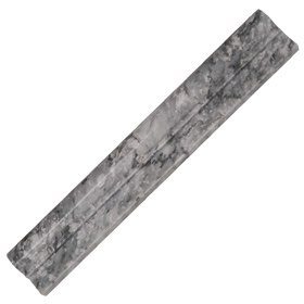 Ogee Molding 2 x 12 Tile Light Grey Marble