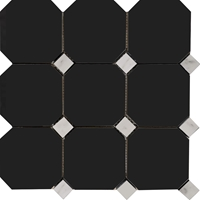 Octagon Mosaic Tile Absolute Black