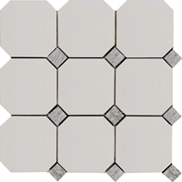 Octagon Mosaic Tile Dolomite With Light Grey Dot