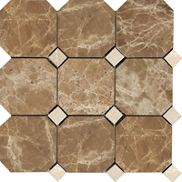 Octagon Mosaic Tile Emparador Light