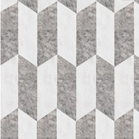 Chevron Mosaic Tile Light Grey - Iceberg