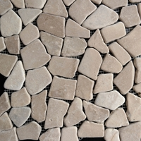 Brown Flat Stone Pebble Mosaic Tile