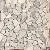 Light Grey Marble Flat Stone Pebble Mosaic Tile