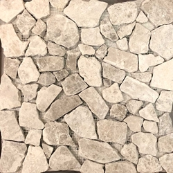 Silver Shadow Grey Flat Stone Pebble Mosaic Tile