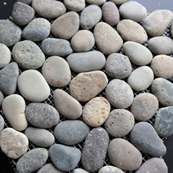 Mixed Rustic Round Stone Pebble Mosaic Tile