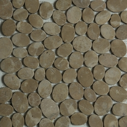 Brown Sliced Stone Pebble Mosaic Tile