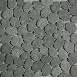 Ice Grey Sliced Stone Pebble Mosaic Tile