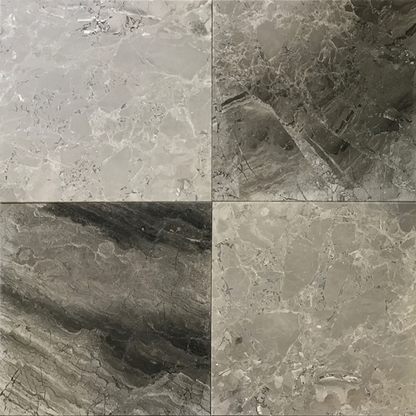 12 x 12 Tile Shades Of Grey Marble Polished