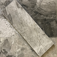 4 x 12 Tile Shades Of Grey Marble Polished