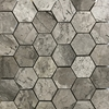 2 Inch Hexagon Mosaic Tile Shades Of Grey Marble Polished - SOGH32