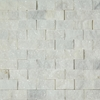 1 X 2 Split Face Mosaic Tile White Marble Honed - WMTSF12
