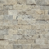 1 X 2 Split Face Mosaic Tile Silver Grey Travertine Honed